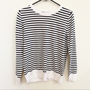 Loft Black and White Sweater